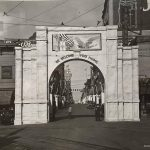 Victory Arch at 8th & Felix.