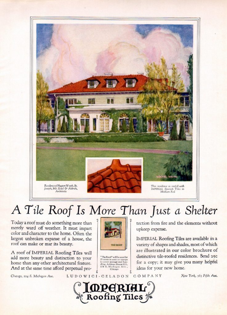 1926 House Beautiful magazine – 1926 Roofing Tile Ad