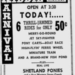1953, Kiddieland was located on the Belt Hwy 1
