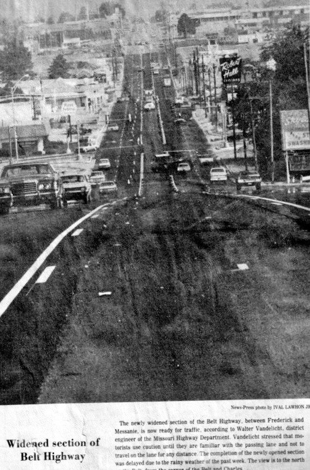 1977 LOOKING NORTH ON THE BELT