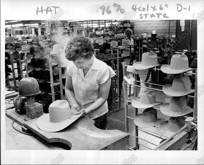 1983 STETSON Hats Crafted Stevens Hat Manufacturing St Joseph Missouri