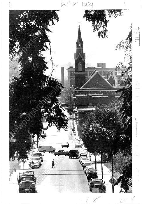 1983 St Joseph Missouri Street Scene. Looking west on Francis