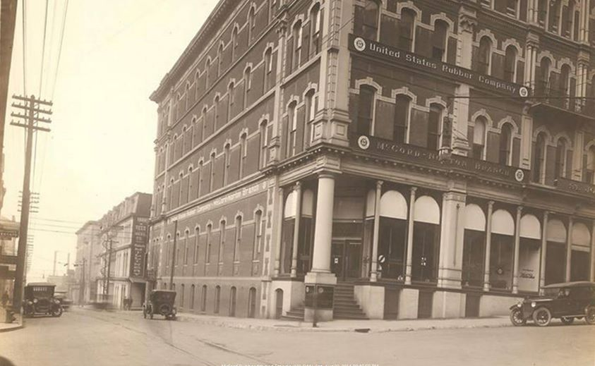 4th and Francis and the McCord Norton branch of US Rubber built in 1880