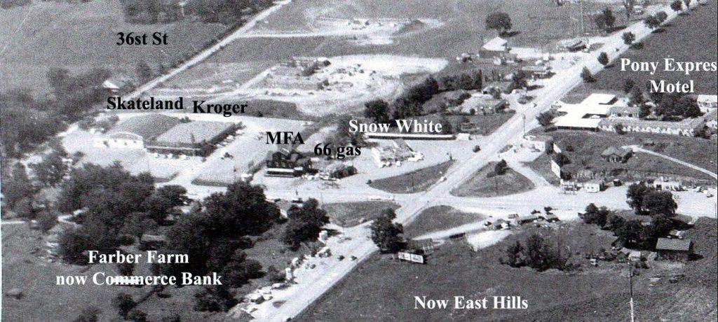 AERIAL VIEW Circa Pre-1961 Belt Highway & Frederick