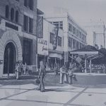 Artist's rendering of the proposed Saint Joseph downtown pedestrian mall. Demolished