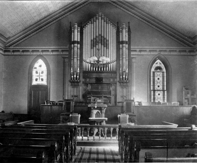Ashland United Methodist Pipe Organ as it appeared in 1898