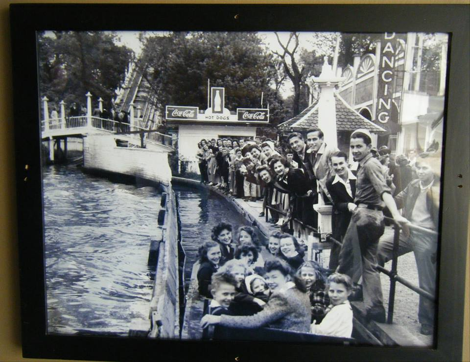 Boarding the Boat to ride the Shoot the Chutes at Lake Contrary Amusement Park