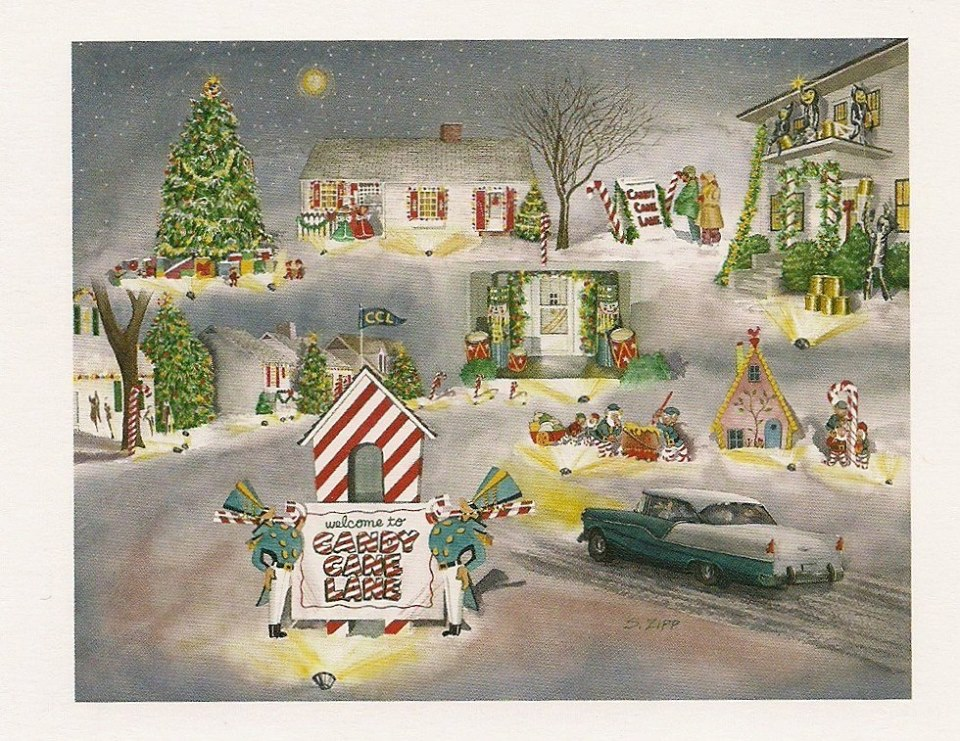Candy Cane Lane Christmas Card