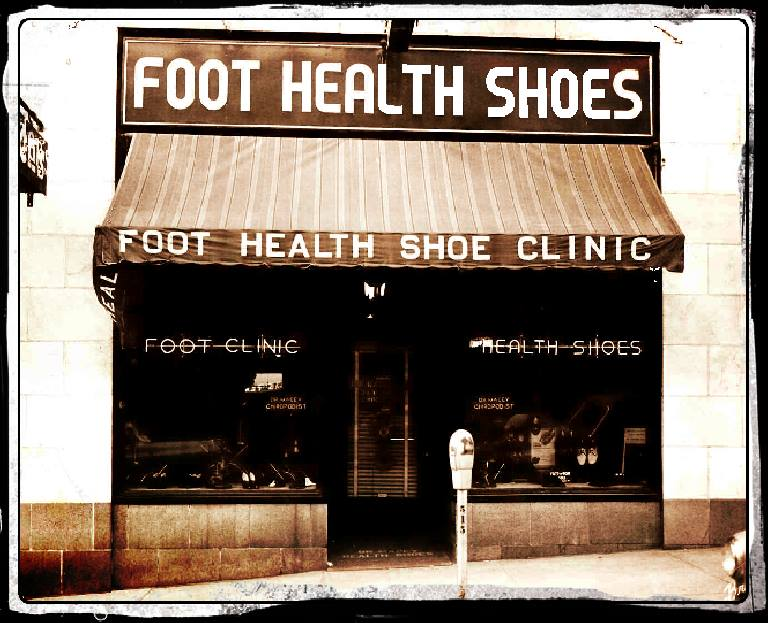 Dr. Walter Macey, Podiatrist [previously called Chiropodist] had his foot clinic and corrective shoe store at 120 North 7th Street