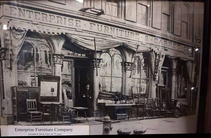 Enterprise Furniture and Carpet was located at Fifth and Felix