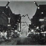 Felix Street looking west from 7th in 1927 Christmas finery