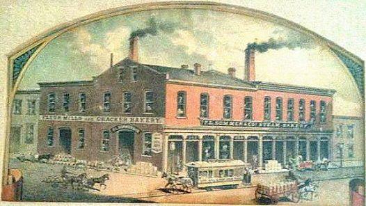 Frank Sommer Steam Bakery-Cracker Company in 1880