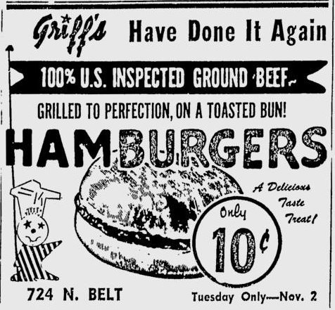 GRIFF'S HAMBURGERS 724 North Belt 2