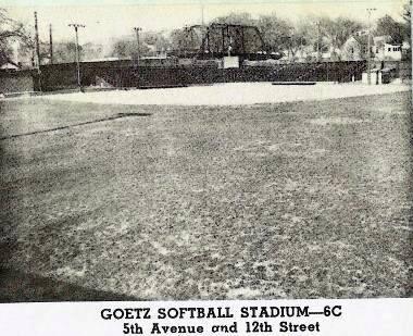Goetz Softball Stadium at 5th Ave. & 12th Street