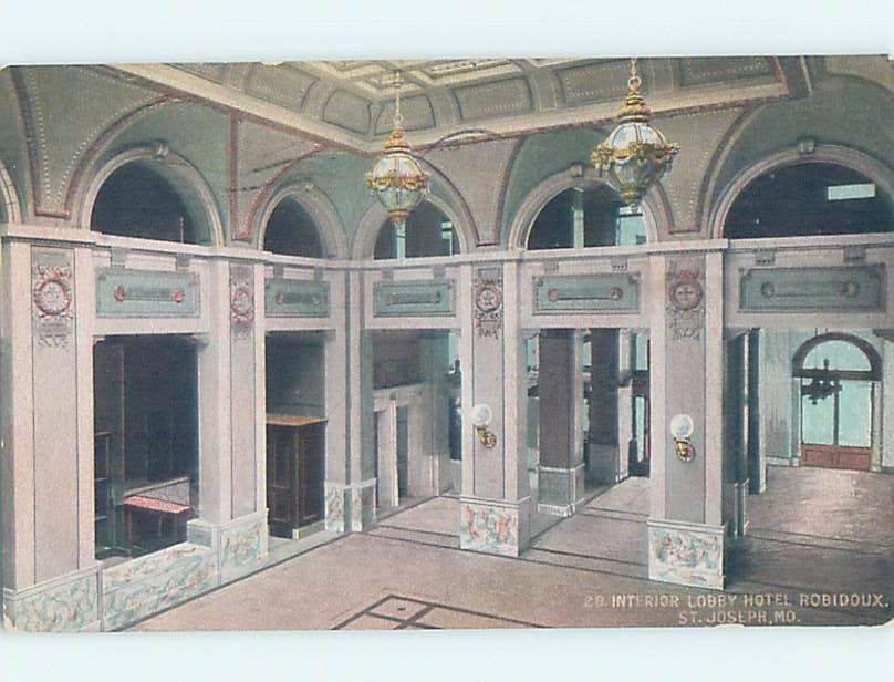 HOTEL ROBIDOUX LOBBY St. Joseph Missouri MO