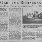 Heinie's Steak House Newspaper Article