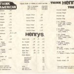 Henrys Menu
