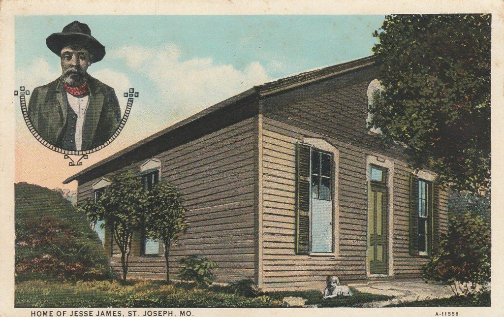Home Of Jessie James Postcard