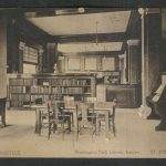 Inside the Washington Park Library circa 1912