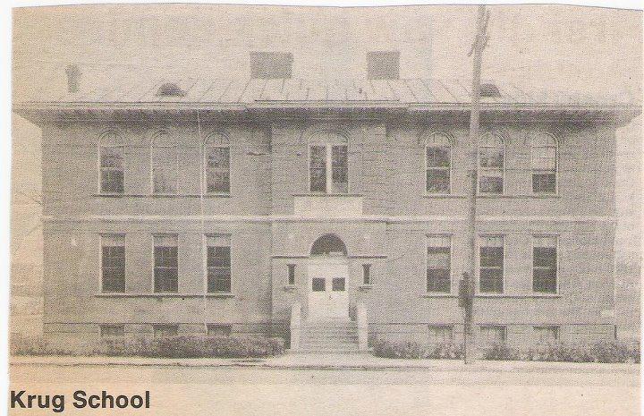 Krug School on St. Joe Avenue across from the entrance to Krug Park