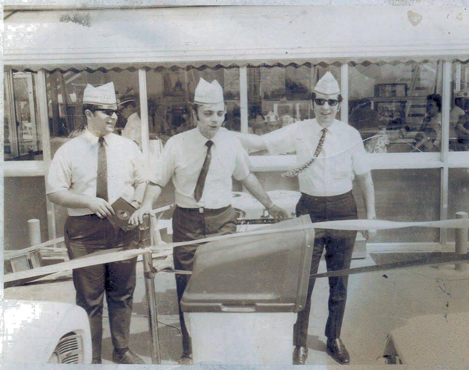 Left to right, Jim Kelly, Greg Everett, Danny Taylor