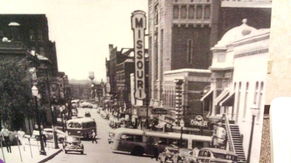 Looking west down Edmond 1940's