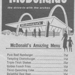 McDonald's Menu 1958