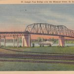 Missouri River Bridge Postcard