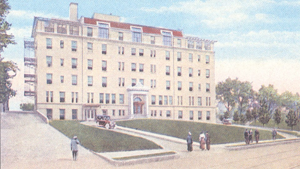 Noyes Hospital before it was Frederick Towers