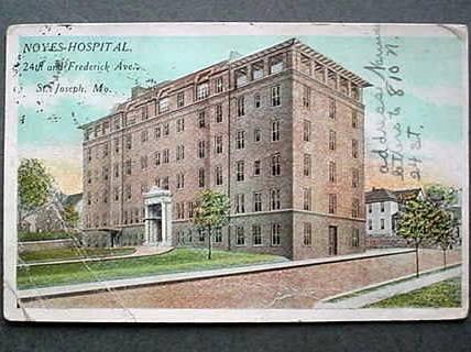 Noyes Hospital. 24th & Frederick Ave. 1914