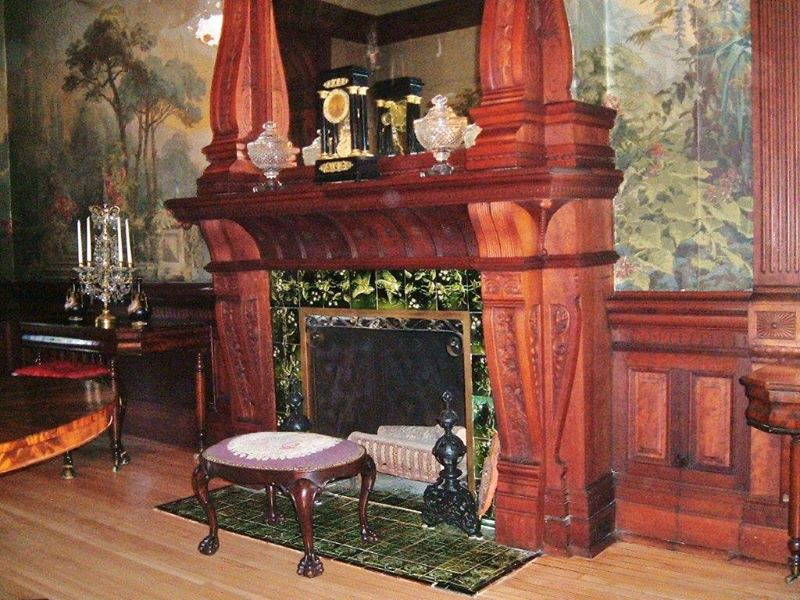 One of the many fireplaces at the Shakespeare Chateau