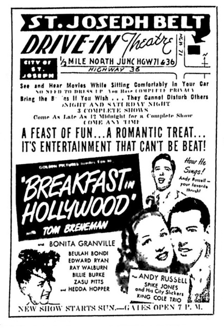 Opening day movie ad from July 11,1947