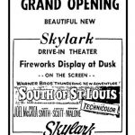 Opening day movie ad from July 25,1949