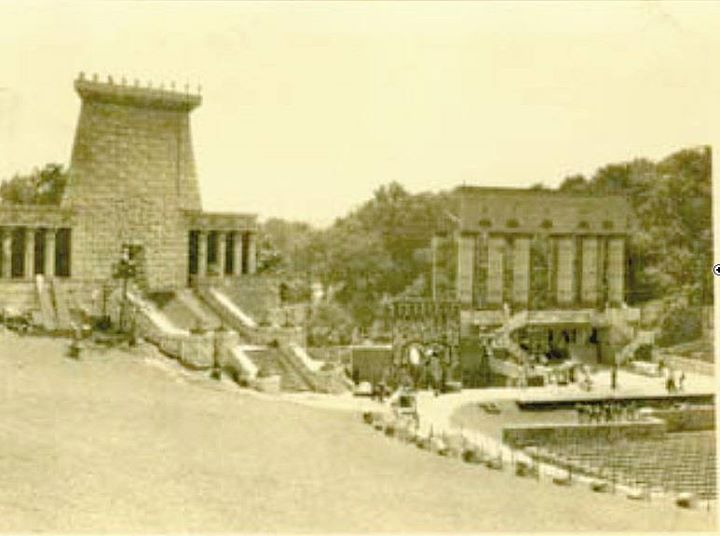 Passion Play set at Krug Park 1928
