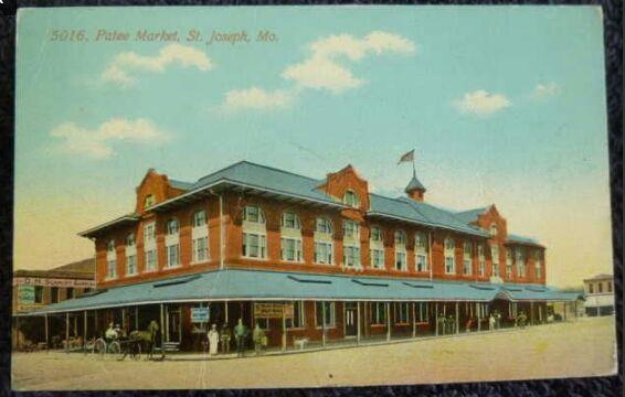 Patee Market, St. Joseph, Mo. 1917 postcard