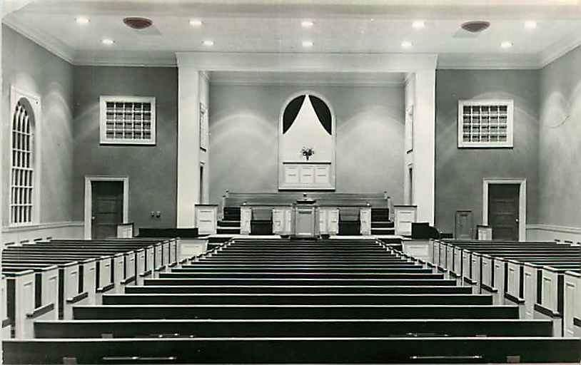 Postcard Wyatt Park Baptist Church Interior, St. Joseph, Missouri