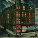 Postcard Y. M. C. A. Building at Night, St. Joseph, Missouri – pre 1907