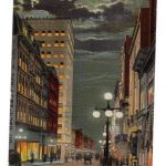 ST JOSEPH MISSOURI 1915 Postcard FELIX STREET at NIGHT
