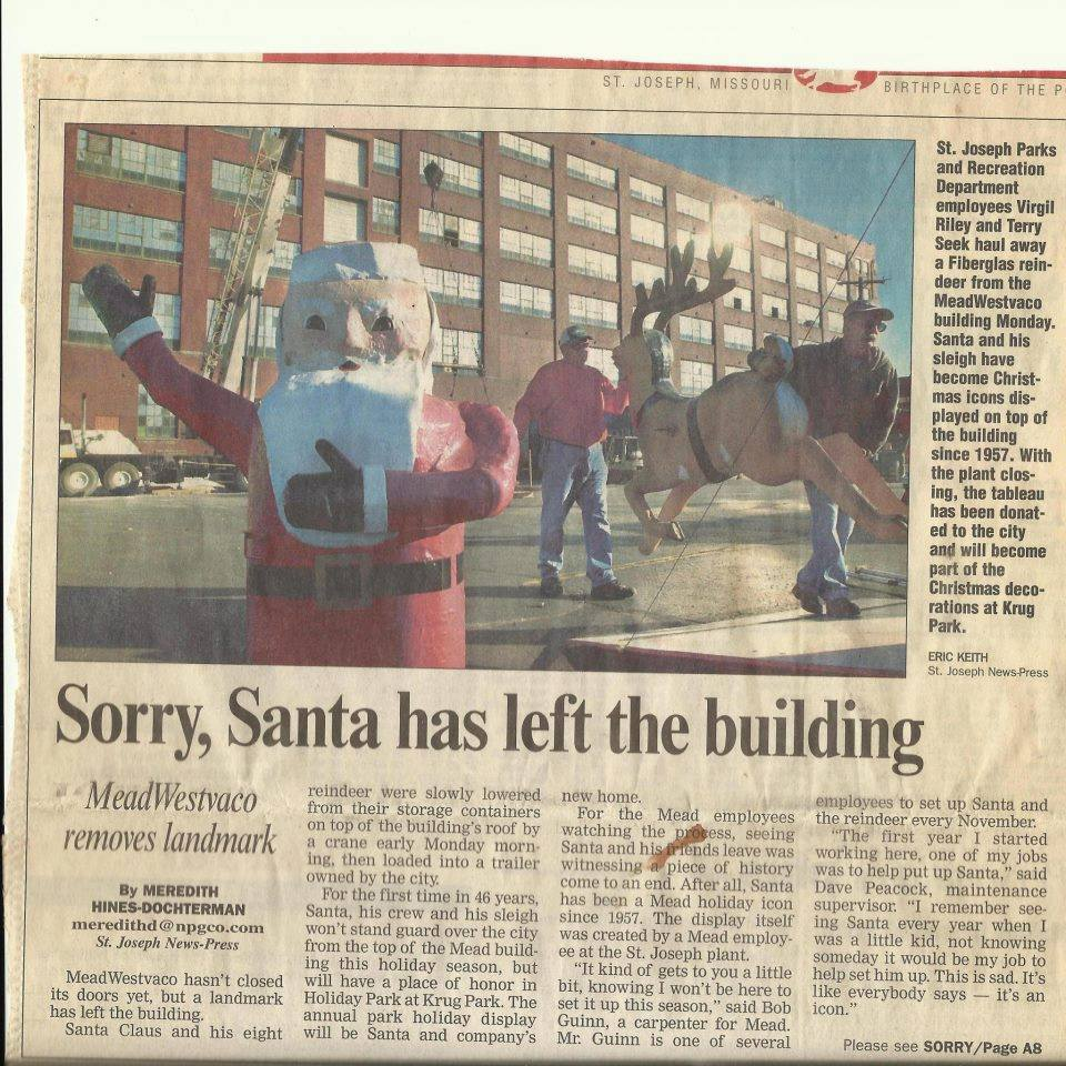 Santa from the Mead Westab Building