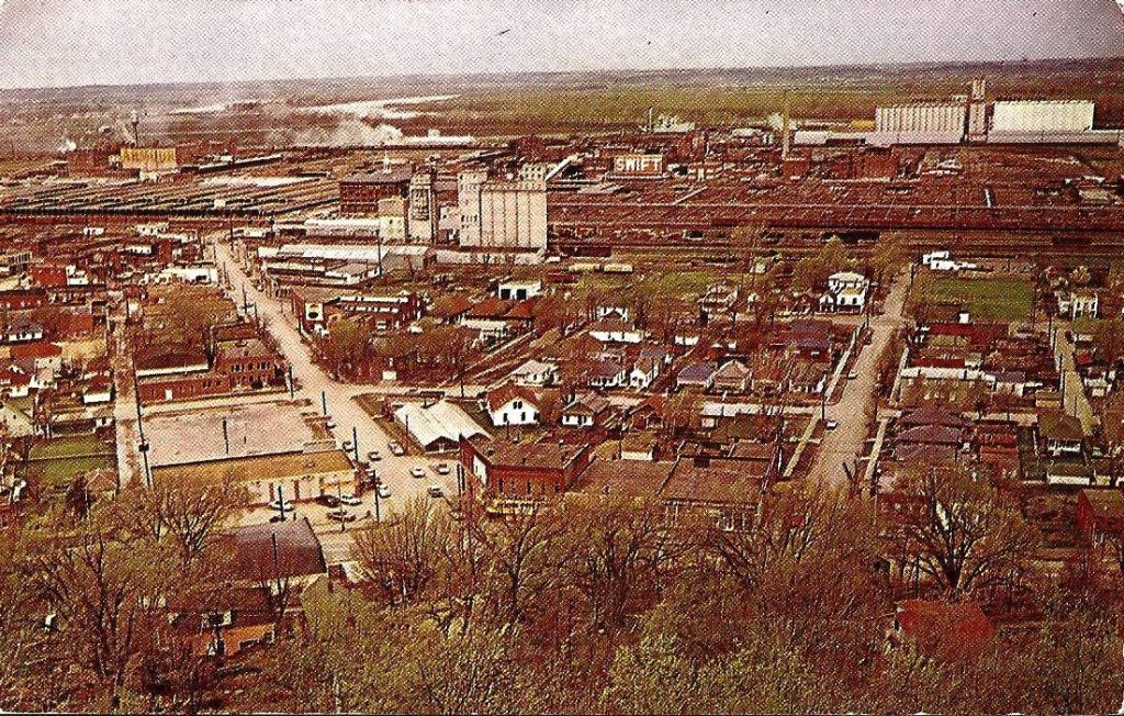 Scenic View from King Hill ST. JOSEPH MO Vintage 1959
