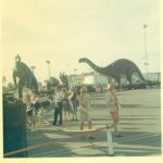 Sinclair dinosaurs to the East Hills parking lot in 1968