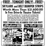 Skylark Drive-In opened on July 25, 1949
