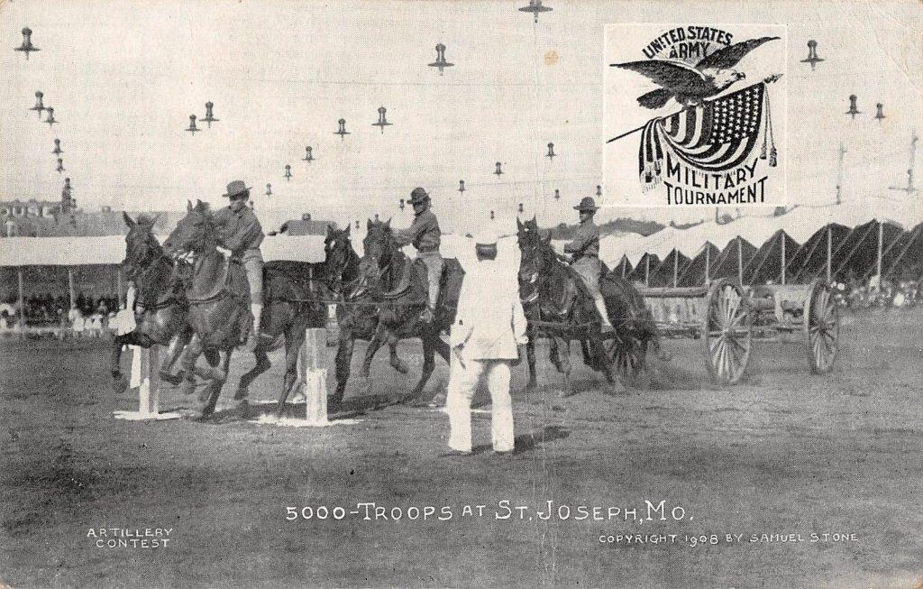 St Joseph Missouri Military Tournament Artillery Contest