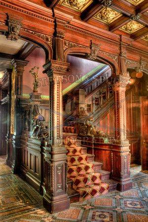 Staircase at the Shakespeare Chateau
