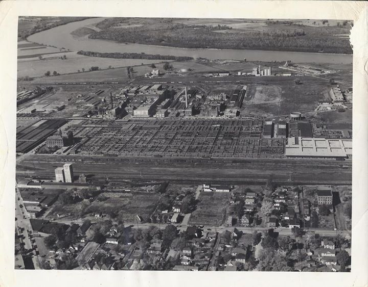 Stockyards and Packing Plants circa 1945