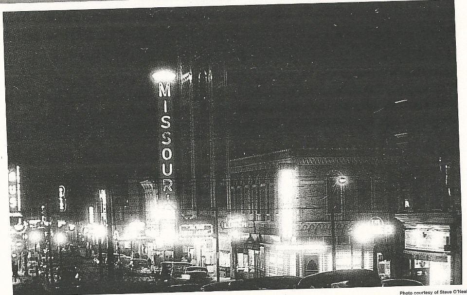 The City never sleeps at 8th & Edmond in the 1940's