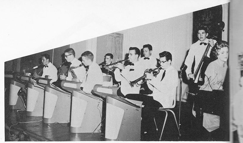 The Dreamers Dance Band playing the Jr. College Ice Breaker in 1962.