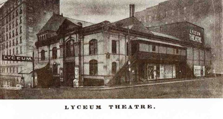 The Lyceum Theater in St Joe 1914