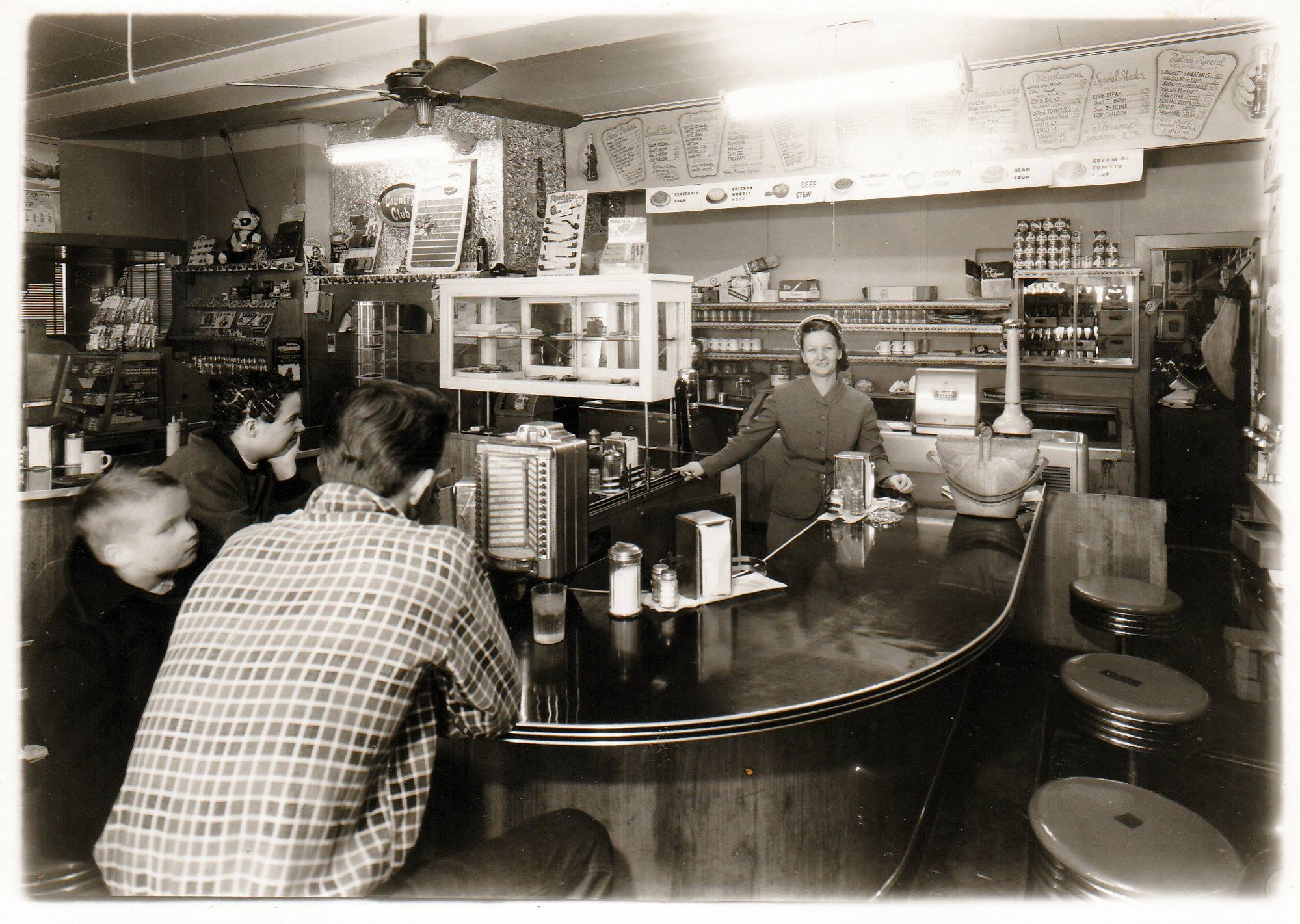 The music box 19th and Frederick,Violet Pinzino behind the counter.