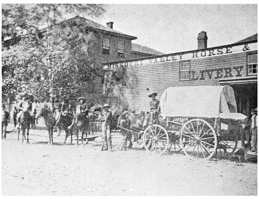 This livery stable was on 8th street between Felix and Edmond.